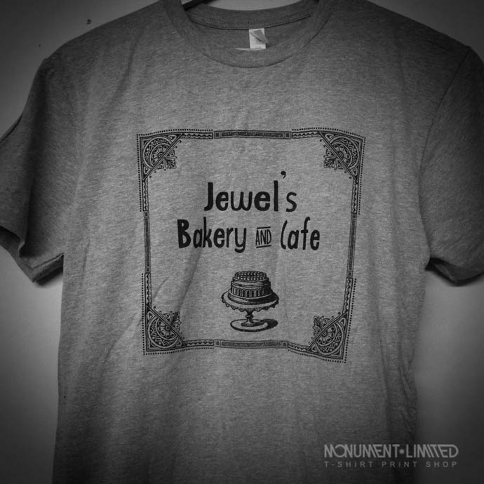 Bakery and Cafe t-shirt printer jewels-bakery-close