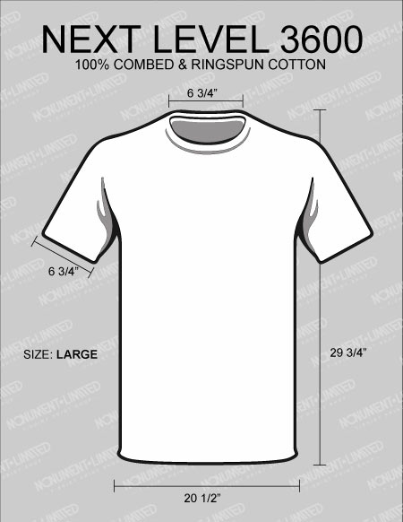 Standard Dimensions For Shirt Design