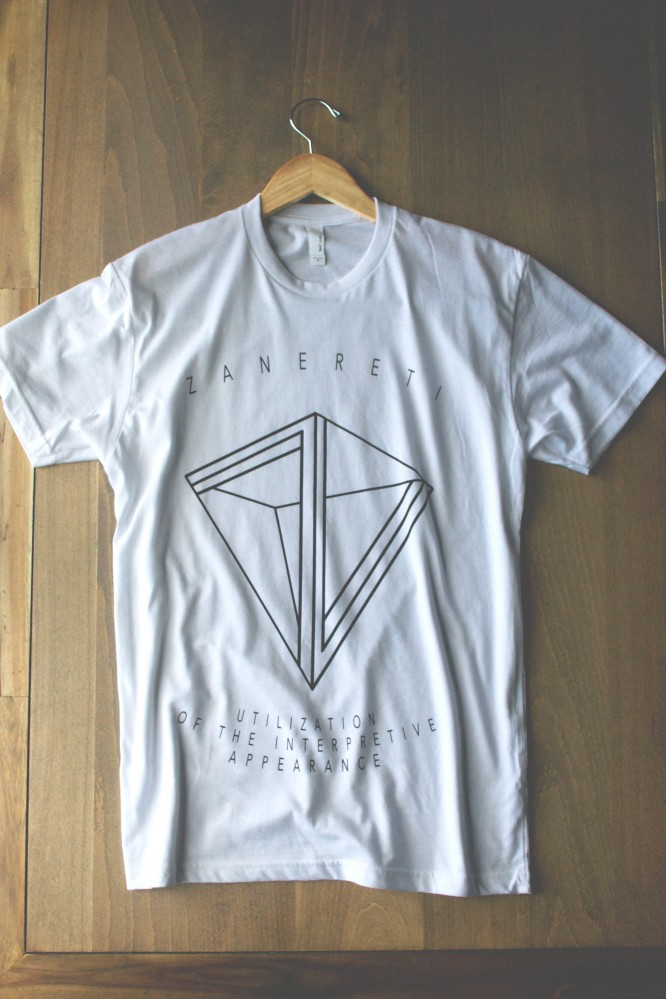 Zanereti-white shirt-monument-limited-screen-printing