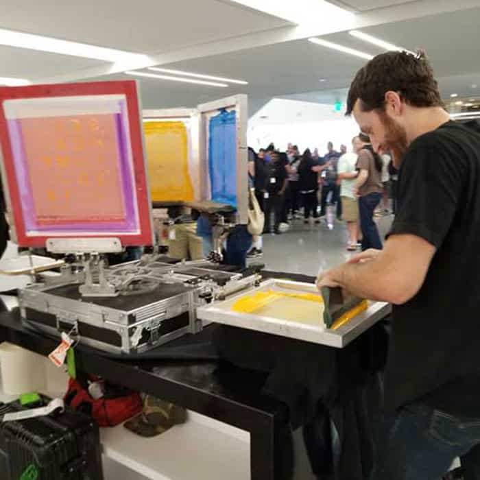 Live Screen Printing | Monument Limited