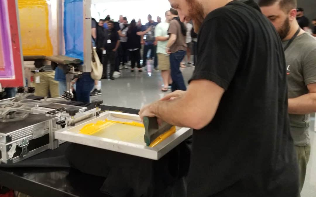 Corporate Event Screen Printing